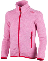 CMP Fleece-Jacke in Strick-Optik Girl rose-bianco 3H19925-28AA