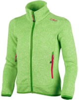 CMP Fleece-Jacke in Strick-Optik Girl mojito-bianco 3H19925-30AA
