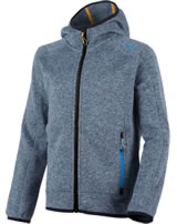 CMP Fleece-Jacke in Strick-Optik m. Kapuze Boy acciaio-antracite 3H60844-78AA