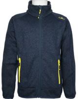 CMP Boy Fleece-Jacke in Strick-Optik cosmo/lemonade 3H60744-14NE