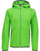 CMP Fleece-Jacke in Strick-Optik m. Kapuze Boy gecko-menta 3H60844-26AG