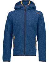 CMP Fleece-Jacke in Strick-Optik m. Kapuze Boy zaffiro-antracite 3H60844-20AG