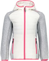 CMP Hybrid Softshell jacket with hood Girl argento/corallo 38H1445-63BH
