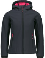 CMP Softshell jacket with hood Girl antracite/rhodamine 3A29385N-01UD