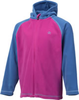 Color Kids Fleece-Jacke m. Kapuze NANUK fuchsia red 103986-4124