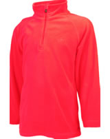 Color Kids Fleece-Pullover SANDBERG neon fiery coral 103794-4151