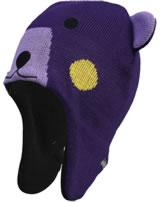 Color Kids Strick-Inkamütze KONJA  MINI mit Ohren violet indigo 103811-4178