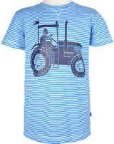 Danefae Kinder-T-Shirt Kurzarm SLOPPY JOE trimid blue/off white 10638-3016