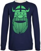 Danefae Kinder-T-Shirt Langarm BASIC ERIK navy 11454-3278