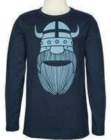 Danefae Kinder-T-Shirt Langarm ERIK BASIC deep ocean 11454-3143