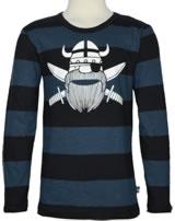 Danefae Kinder-T-Shirt Langarm ERIK PIRAT deep ocean/black 70141-3151