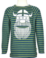 Danefae Kinder-T-Shirt Langarm Raglan BIG JOE ERIK deep ocean/green 11038-3156