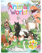 Depesche Malbuch Create your Animal World mit Stickern