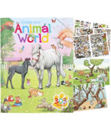 Depesche Malbuch / Stickerbuch Create your Animal World