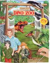 Depesche book with sticker Create your Dino Zoo