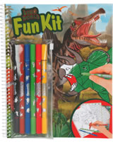 DINO WORLD Fun-Kit Malbuch