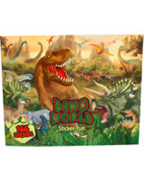 DINO WORLD Stickerfun - Malbuch mit Stickerbögen