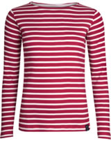 Elkline Damen T-Shirt Langarm U-BOOT chilipepperred/white 2040064-306150