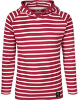 Elkline Kinder T-Shirt m. Kapuze Langarm CREW chilipepper/white 3040070-306150