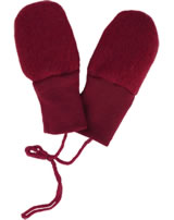 Engel Fleece Mittens of wool red melange 575570-060