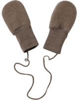 Engel Fleece Mittens of wool walnut melange 575570-075