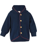 Engel Baby terry jacket with hood and wooden buttons marine IVN-BEST 555520-33