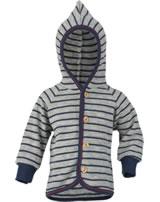 Engel Baby terry jacket with hood light grey mel./navy-blue 525520-933 IVN-BEST