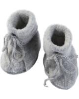 Baby shoes with lacing fleece IVN BEST grey melange 575582-091