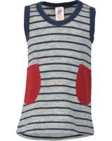 Engel Baby Träger-Kleid Frottee Schurwolle hellgrau/marine 525850-933 IVN-BEST