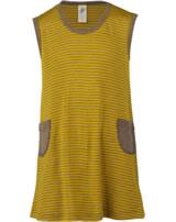 Engel Baby Träger-Kleid Wolle/Seide safran/walnuss 725820-1875E GOTS