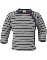 Engel Baby Sweater with press-studs light grey mel./navy-blue 525513-933 IVN-BEST
