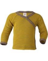 Engel Baby Wickel-Shirt Langarm Wolle/Seide safran/walnuss 725510-1875E GOTS