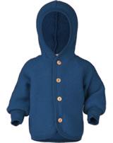 Engel Kinder Kapuzen-Jacke Fleece blau melange 575520-080 IVN-BEST