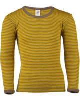 Engel Kinder Shirt Langarm Wolle/Seide safran/walnuss 727810-1875E GOTS