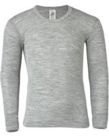 Engel Kinder Shirt/Unterhemd Langarm Schurwolle/Seide GOTS grau 707810-091