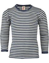 Engel Kinder Shirt/Unterhemd Wolle blau mel./natur 427810-081 IVN-Best