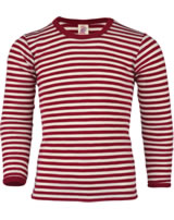 Engel Children's shirt/underwearwool red melange/natur 427810-061 IVN-Best
