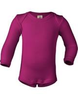 Engel Bodysuit long sleeve wool/silk raspberry 709010-55E GOTS