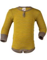 Engel Langarm-Body Wolle/Seide safran/walnuss 729530-1875E GOTS