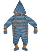 Finkid Baby Winter-Overall HALI pebbles blue/cinnamon 1213001-164416