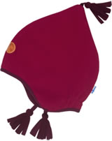 Finkid Fleece Zipfelmütze PIPO red/cabernet 6031132-200249