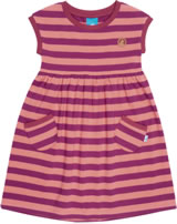 Finkid Dress Short Sleeve Stripe LILLI raspberry/georgia peach 1422003-222252