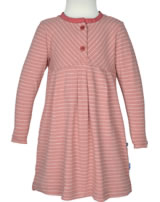 Finkid Jersey Shirt-Kleid Langarm PIKKU PAITA peach/cranberry 1423001-219243