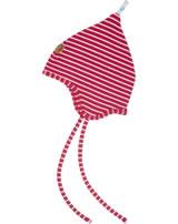 Finkid Jersey Zipfelmütze POPILI Streifen red/offwhite 6031134-200406