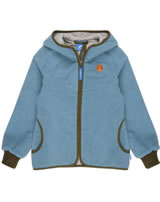 Finkid Zwergen Girls Fleecejacke Zip in LAINE smoke blue/capers 3223026-152437