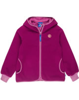 Finkid Zwergen Girls Fleecejacke Zip in LAINE persian red/rose 3223026-247246