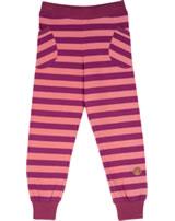 Finkid Blockstripe Leggings TIIKERI raspberry/georgia peach 1362003-222252