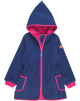 Finkid Zwergen Fleecejacke/Mantel  Zip In NEILIKKA ink/cherry 3223020-142232