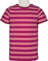 Finkid Basic Blockstripe Shortsleeve Shirt RENKAAT raspberry/georgia p.1542001-222252