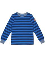 Finkid Basic Blockstripe Longsleeve Shirt RULLA majolica/blue 1532001-160103